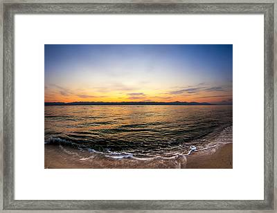 Dawn Over The Red Sea Framed Print by Mark E Tisdale
