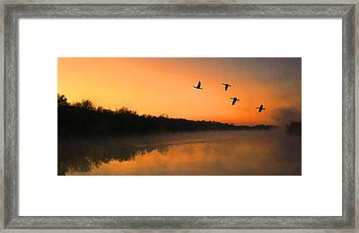 Dawn Patrol Framed Print by Steven Richardson