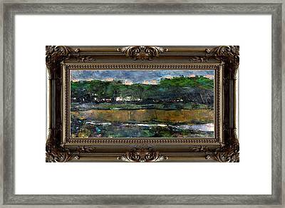 Framed Print featuring the painting Dawn by Pemaro