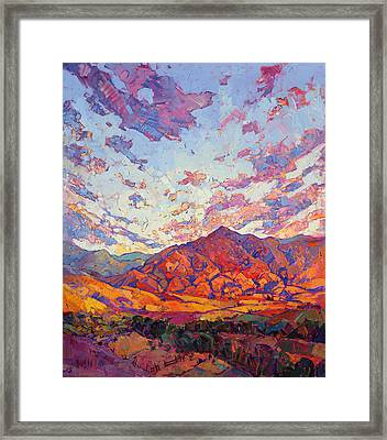 Framed Print featuring the painting Dawn Rising by Erin Hanson