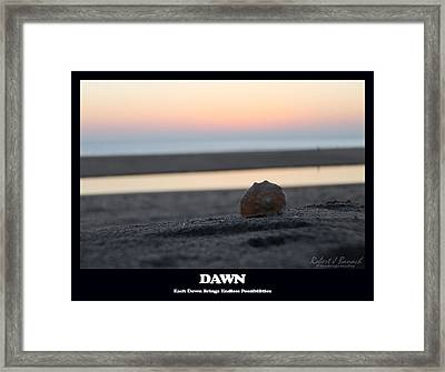 Dawn Framed Print by Robert Banach
