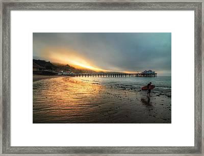 Dawn Session Over Framed Print