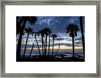Dawn Silhouettes 01 Framed Print