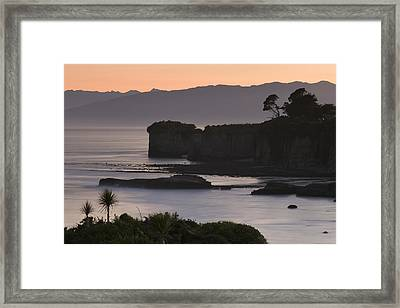 Dawn Silhouettes Framed Print by Holger Spiering