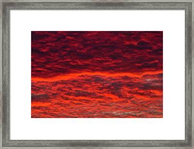 Dawn Sky, Portland, Oregon Framed Print by William Sutton