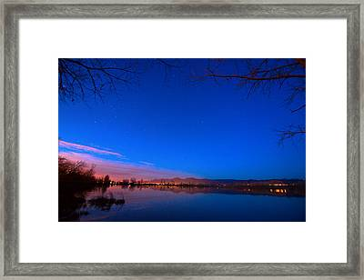 Dawn The Beginning Of The Twilight  Framed Print by James BO  Insogna