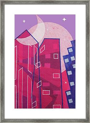 Dawn To Dusk In The City Framed Print by Julia and David Bowman