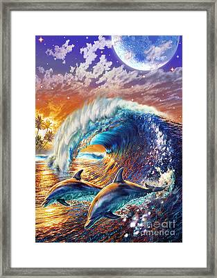 Atlantic Dolphins Framed Print by Adrian Chesterman