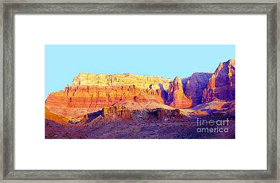 Dawn - Vermillion Cliff And Cathedral Canyon Framed Print by Douglas Taylor