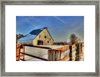 Dawns Barn Framed Print