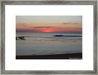 Framed Print featuring the photograph Dawn's Light by Robert Banach