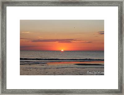 Framed Print featuring the photograph Dawn's Orange Hues by Robert Banach