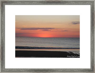 Framed Print featuring the photograph Dawn's Spreading Light by Robert Banach