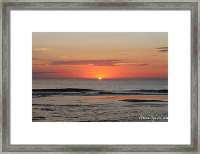 Framed Print featuring the photograph Dawn's Waves by Robert Banach