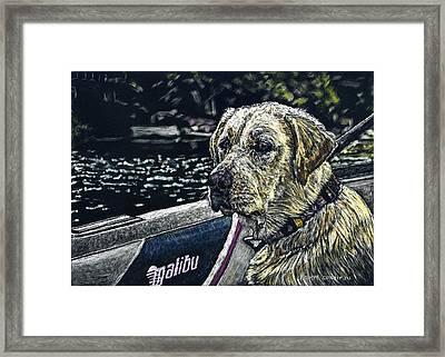 Dawson At The Lake Framed Print by Robert Goudreau