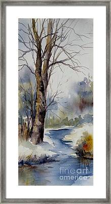 Misty Winter Wood Framed Print