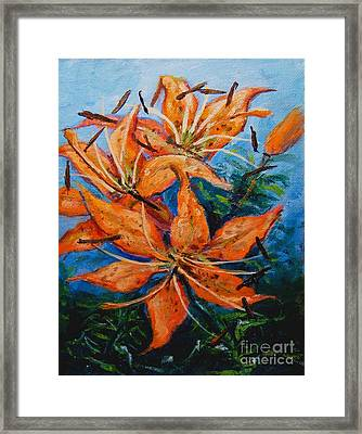 Day 21 Tiger Lily Framed Print
