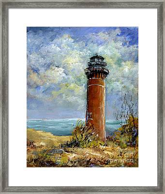 Little Au Sable Point Lighthouse Michigan Framed Print
