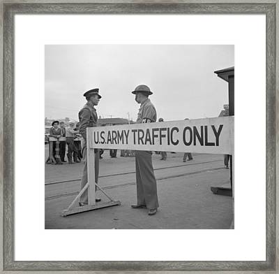 Day After Pearl Harbor Attack In San Framed Print by Everett
