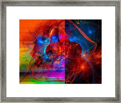 Colorful Digital Abstract Art - Day And Night Framed Print