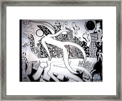 Day And Night In The City Framed Print by Isis Kenney
