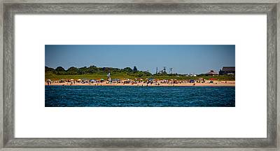 Day At The Beach Framed Print by Art Block Collections