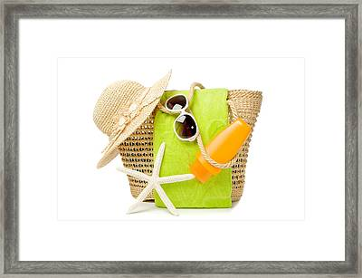 Day At The Beach Framed Print by Amanda And Christopher Elwell