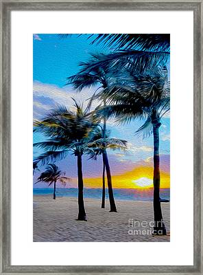 Day At The Beach Framed Print by Jon Neidert