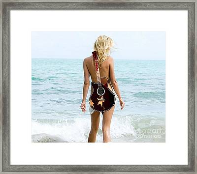 Day At The Beach Framed Print by Marvin Blaine