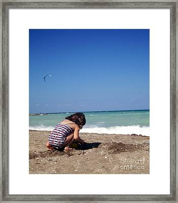 Day At The Beach No6 Framed Print by Megan Dirsa-DuBois