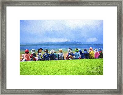 Day At The Beach Framed Print by Avalon Fine Art Photography