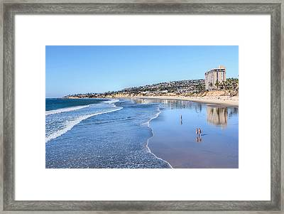 Day At The Beach Framed Print by Tammy Espino