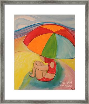 Day At The Beach Framed Print by Teresa Hutto