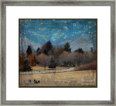Day At The Park Painting  Framed Print by Bobbee Rickard
