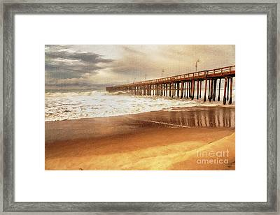 Day At The Pier Large Canvas Art, Canvas Print, Large Art, Large Wall Decor, Home Decor, Photograph Framed Print by David Millenheft