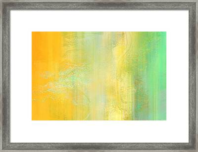Day Bliss - Abstract Art Framed Print