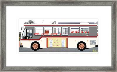 Day-dreamer Bus Framed Print by Augustine Nwankwo