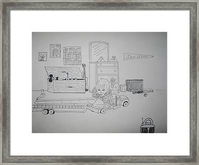 Day Dreaming Framed Print by Russell  Kelly
