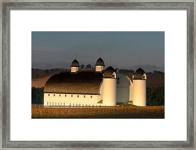Day Farm Barn Framed Print by Thomas Pettengill