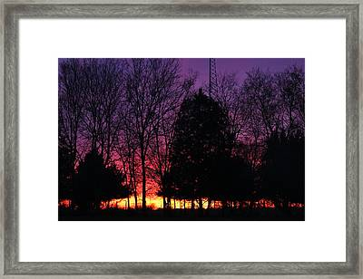 Day Is Done Framed Print by Lorri Crossno