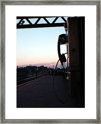 day is rising on NYC subway station Framed Print by Mieczyslaw Rudek