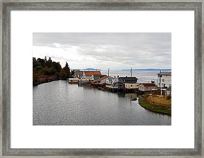 Framed Print featuring the photograph Day Island Bridge View 1 by Anthony Baatz