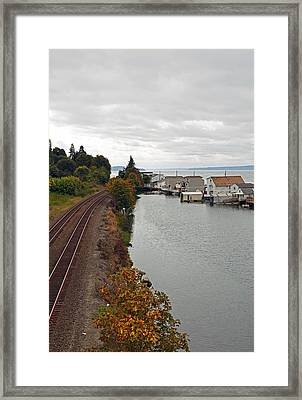 Framed Print featuring the photograph Day Island Bridge View 2 by Anthony Baatz