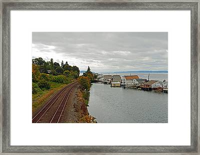 Framed Print featuring the photograph Day Island Bridge View 3 by Anthony Baatz