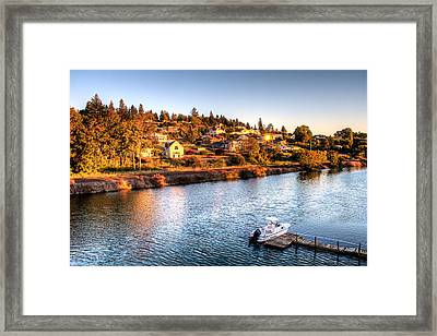 Day Island Lagoon Framed Print