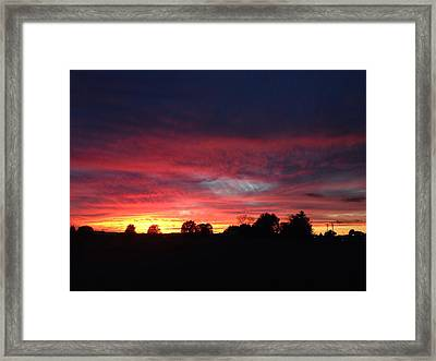 Day Lights End Framed Print by Rick Solter