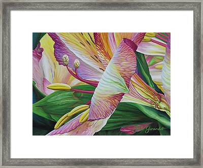 Framed Print featuring the painting Day Lilies by Jane Girardot