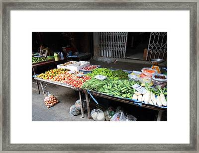 Day Market - Pak Chong Thailand - 011311 Framed Print by DC Photographer
