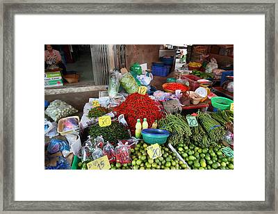 Day Market - Pak Chong Thailand - 011313 Framed Print by DC Photographer