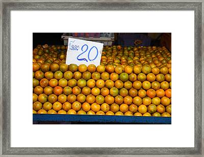 Day Market - Pak Chong Thailand - 011319 Framed Print by DC Photographer